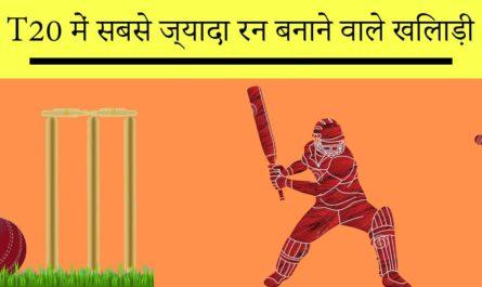 T20 me sabse jyada run